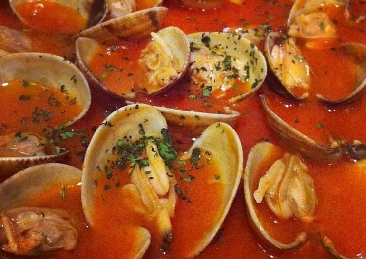 almejas en salsa de tomate receta de chef diosa cookpad