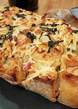 Pan crujiente dos quesos!