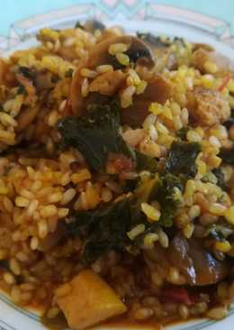 Arroz Integral Mar y mount con kale