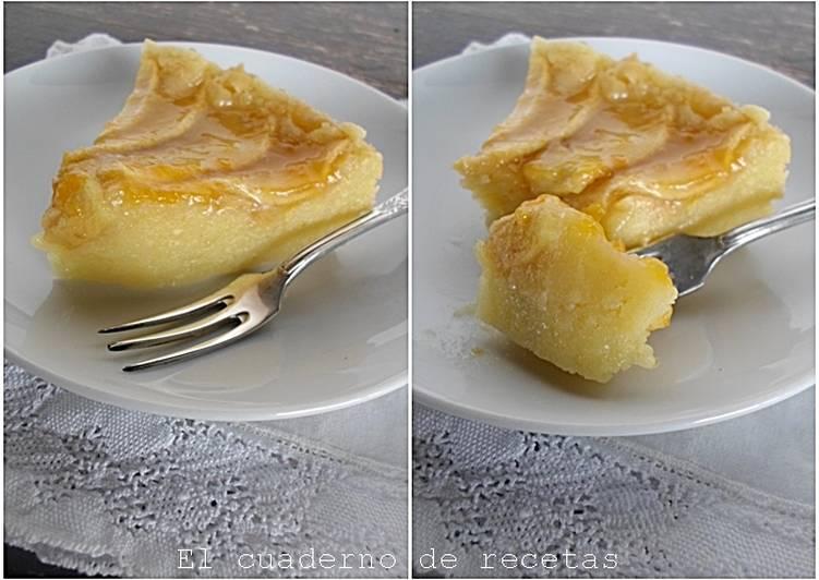 Tarta de manzana sencillísima. Sin azúcar