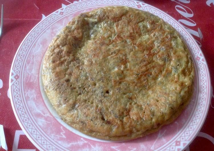 Tortilla de habas tiernas