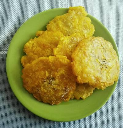 Patacones -tostones- con ayuda del microondas