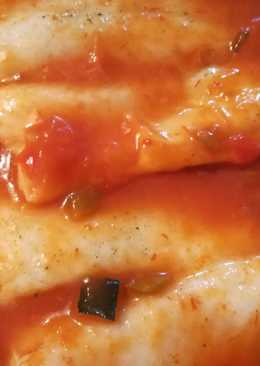 Abadejo con tomate al microondas