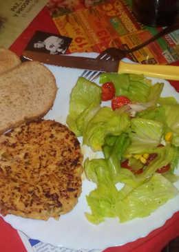 Hamburguesa light de pollo y verduras