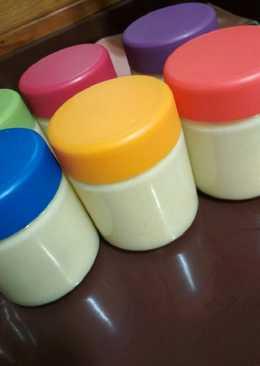 Yogurt frío de mango y piña