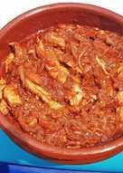 Pechuga de Pollo con salsa de Berenjena, Tomate y Verduras