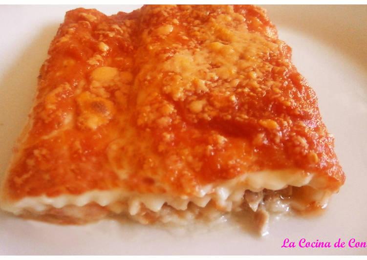 Canelones de atún y tomate