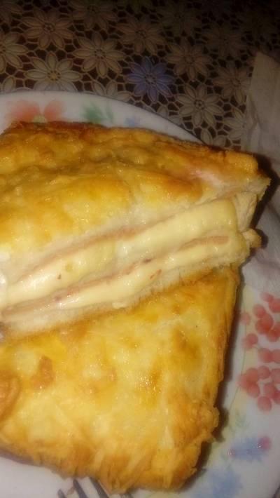 Sándwich croque monsieur (2 capas)