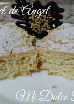 Pastel de ángel (angel food cake) con un toque especial