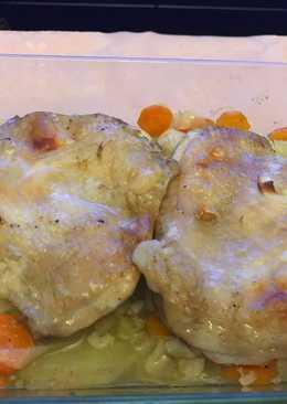 Muslo de pollo al horno
