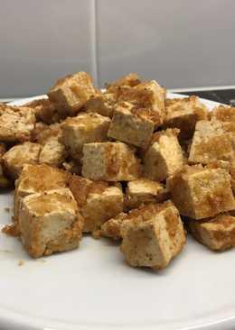 Tofu rebozado con soja y limón