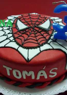 Torta el hombre araña cumpleaños de Tomás