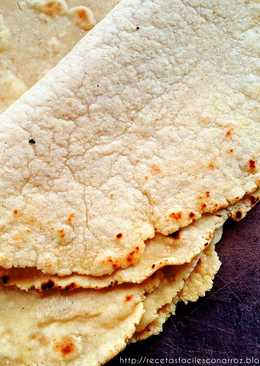 Masa para tacos (o Rapiditas) utilizando harina de arroz y garbanzos. SIN GLUTEN Y VEGANO!