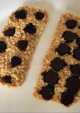 Barritas de cereal o galletas de avena al microondas light
