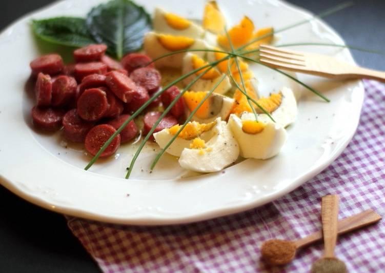 f1e44ae47 Desayuno Keto - Huevos con Salchicha de Pollo a la Pimienta Receta ...