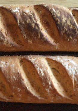 Pan blanco con tahini y semillas de sésamo, en panificadora