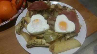 Patatas a lo pobre por San Valentín ❤️