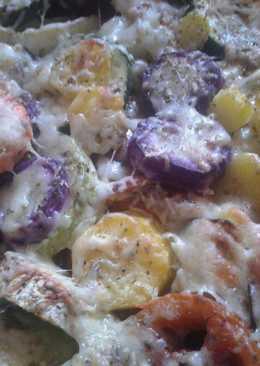 Verduras asadas con queso y especias