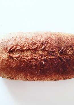 Pan de espelta y harina integral con masa madre de espelta