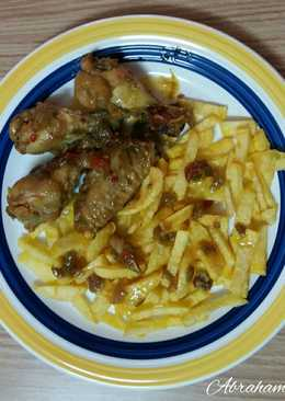 Alitas de pollo al curry