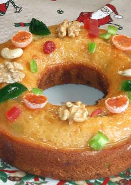 Corona de mandarinas y yogur con frutas secas
