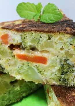 Tortilla de patatas y brócoli'Apta para personas con diabetes'