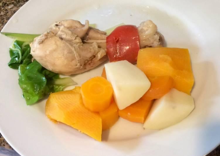 Cocina para principiantes pollo hervido receta de for Cocina para principiantes
