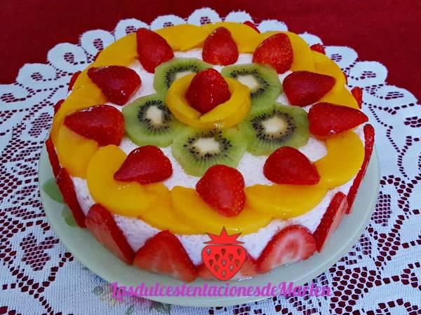 Tarta de fruta y yogur