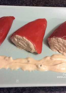 Pimientos del piquillo rellenos de atún