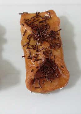 Pestiños de miel con fideos y piedrecitas de chocolate