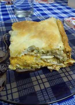 Pastel de pollo con puré mixto