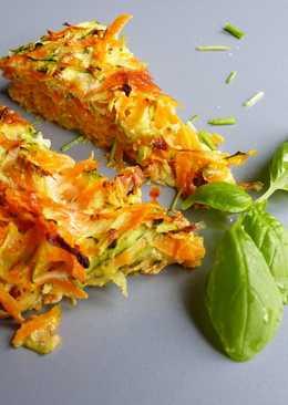 Pastel de calabacín y zanahoria