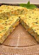 Pastel de queso batido con verduras