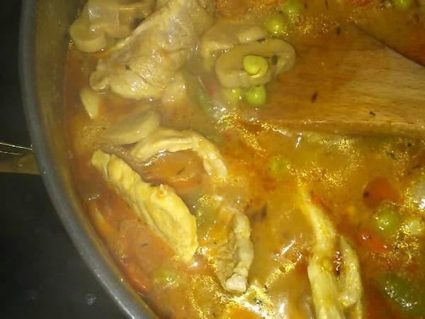 Filete de lomo de cerdo con verduras