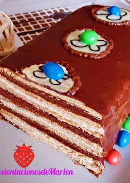 Tarta de Galletas y Dos Chocolates