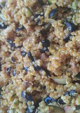 Quinoa con verduras y curry express