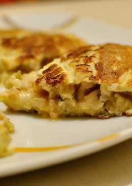 Tortilla de merluza y calabacín con un toque de perejil - Apto p