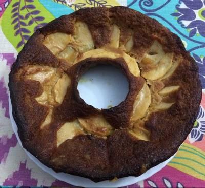 Tarta fit de manzana