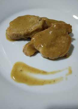 Solomillos de cerdo con salsa pedro Ximénez con thermomix