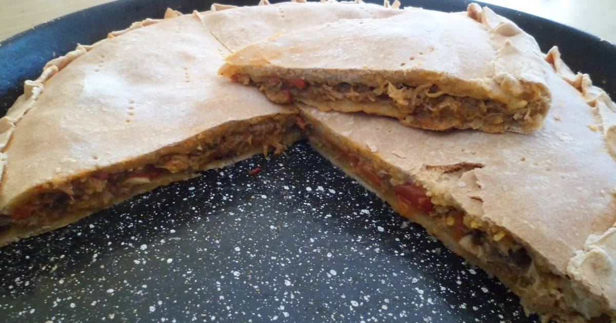 Tarta de vigilia con jurel al natural receta de mcdelg1 for Cocinar jurel