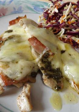 Filetes de pavo y bacon al pesto con mozzarella
