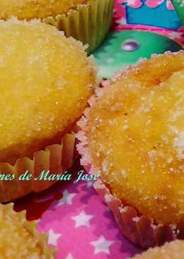 Muffins rellenos de mermelada