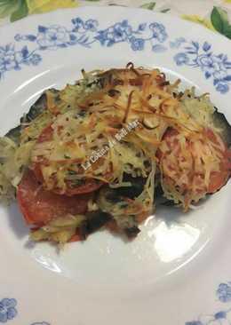 Berenjenas y tomates con queso