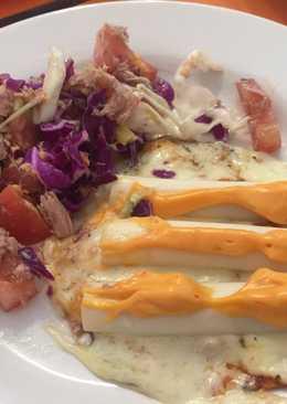 Tortillas mexicanas de avena al microondas a la pizza!