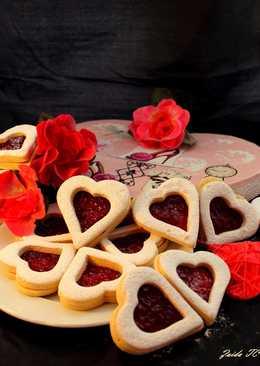 Galletas Rellenas de Mermelada para San Valentín