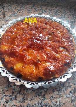 Tarta invertida de manzana con mix de frutos secos