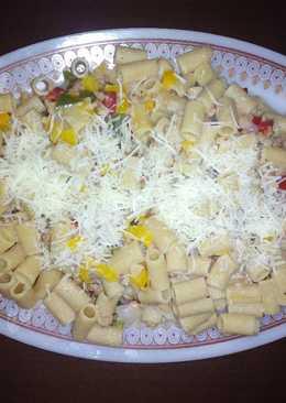 Pasta integral con verdura y soja texturizada