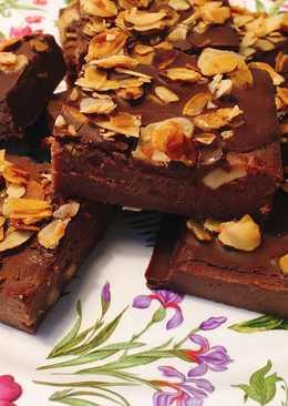 Brownie vegano de boniato
