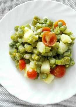 platos con habichuelas