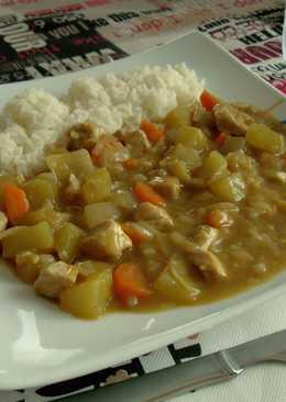 Pollo al curry japonés (kare rice)